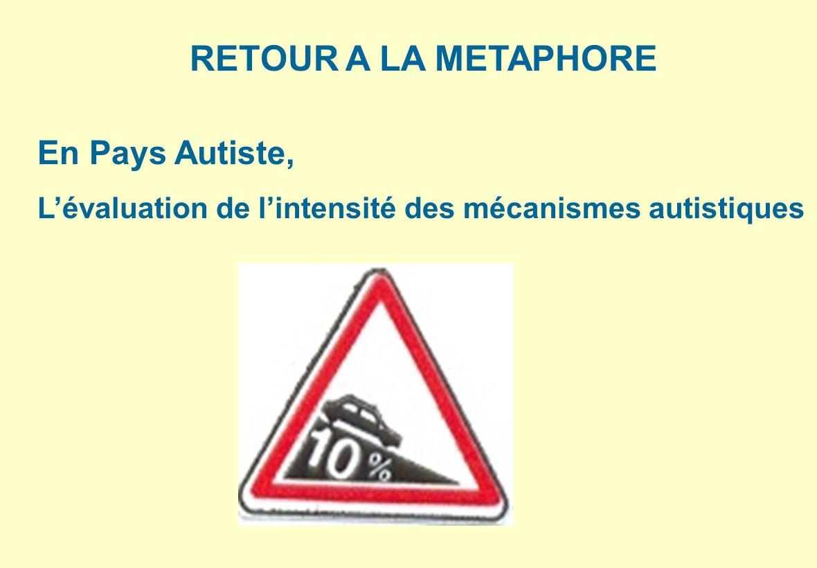 RETOUR A LA METAPHORE En Pays Autiste, Lévaluation de lintensité des mécanismes autistiques