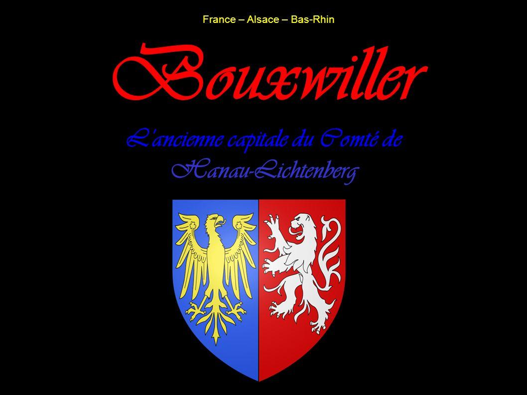 France – Alsace – Bas-Rhin Bouxwiller L'ancienne capitale du Comté de Hanau-Lichtenberg