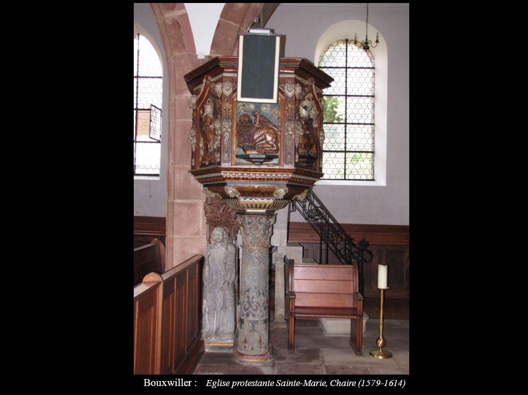 Bouxwiller : Eglise protestante Sainte-Marie, Chaire (1579-1614)