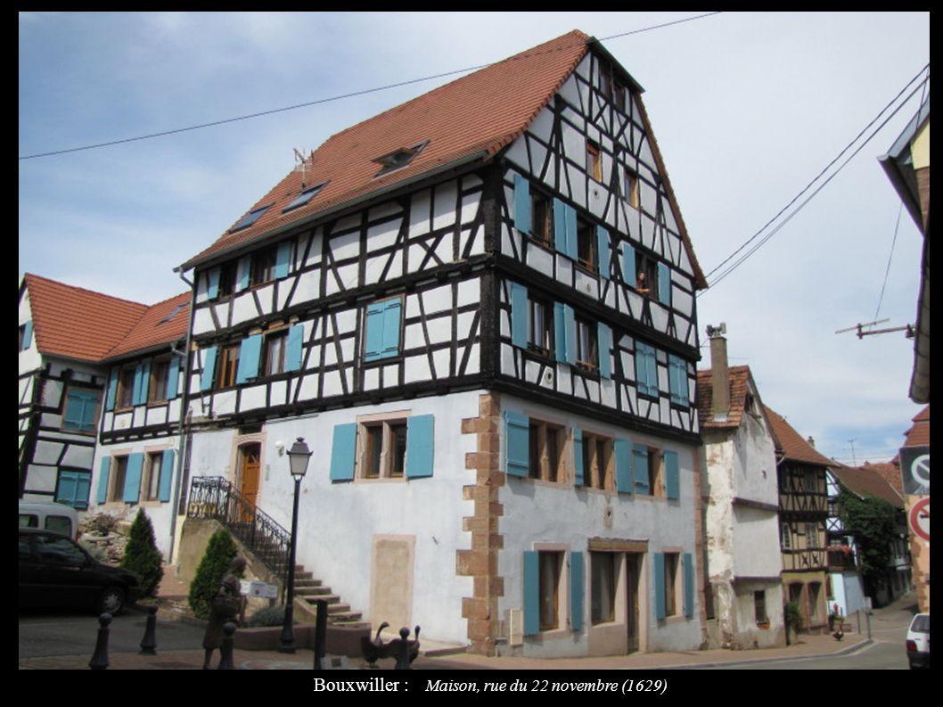 Bouxwiller : Maison, rue du 22 novembre (1629)