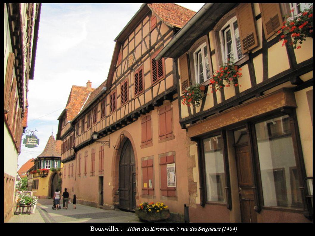 Bouxwiller : Hôtel des Kirchheim, 7 rue des Seigneurs (1484)
