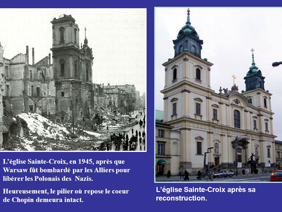 Chopin fût enterré au cimetière Père Lachaise à Paris. Selon ses derniers vœux, son cœur fût retiré et envoyé dans une urne à Warsaw où il fut scellé