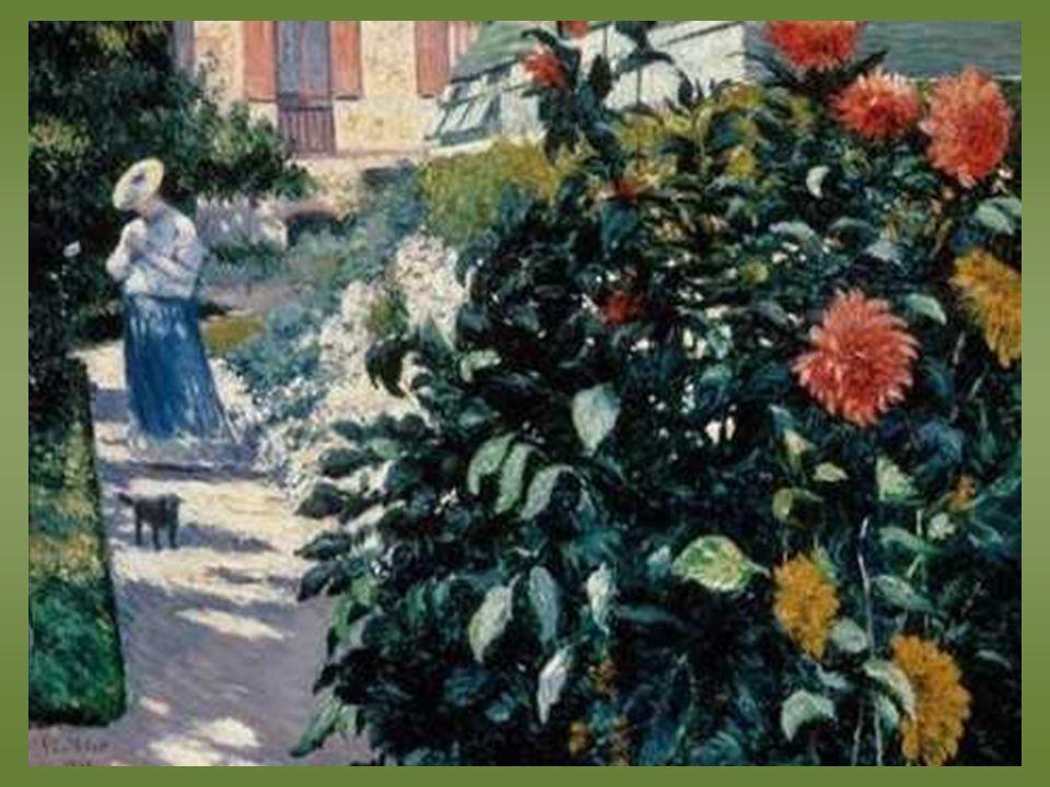 Gustave Calleibotte. Dahlias, jardin de Pettit -Génevillier – 1895 -