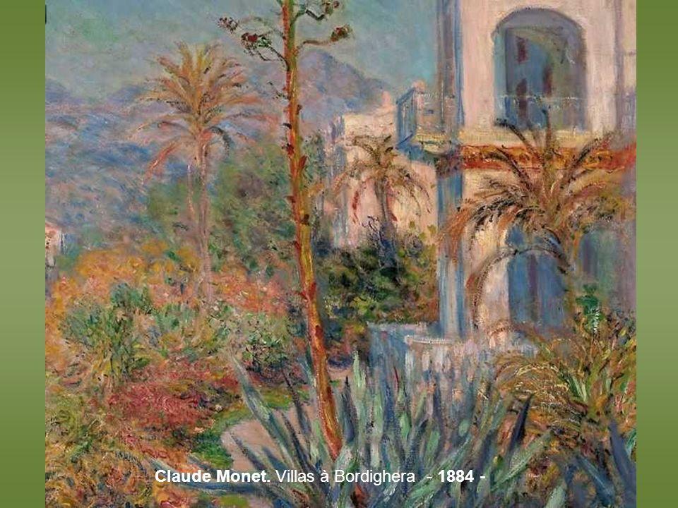 Monet, Pruniers en fleurs à Vetheuil – 1879 -
