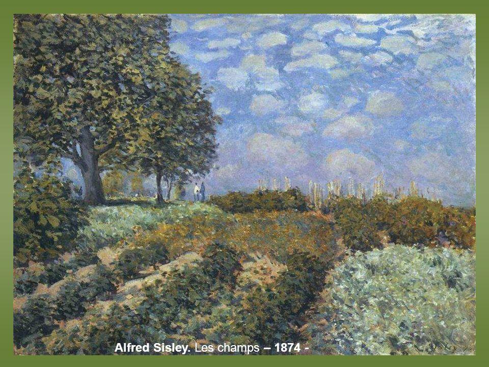 Pissarro, Champ de choux à Pontoise – 1873 -