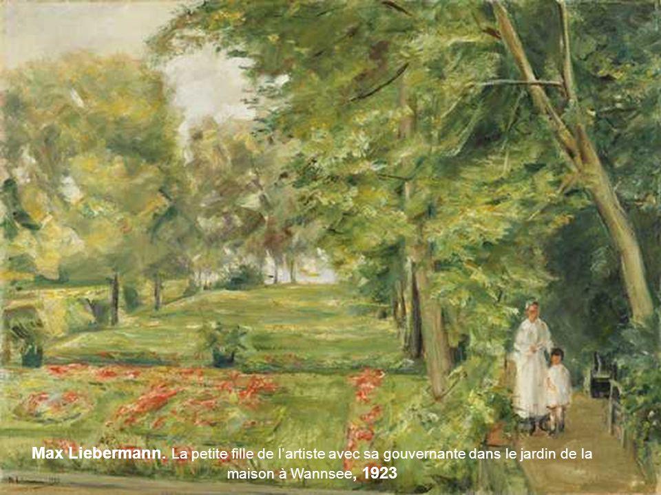 Pierre Bonnard. Sieste dans le jardín - 1920