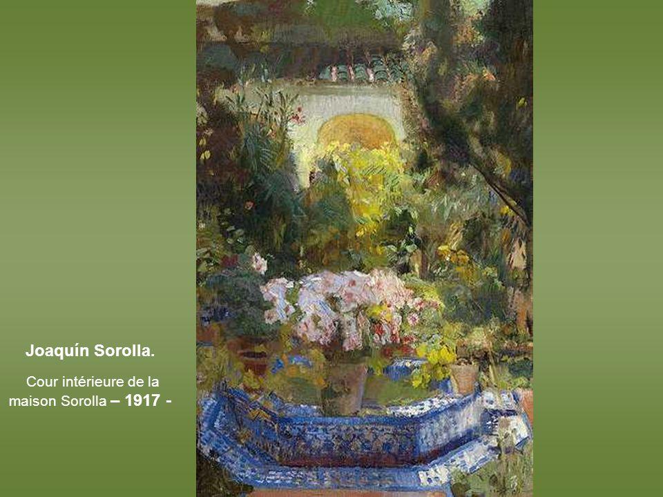 Joaquín Sorolla, Le réservoir du potager - Alcazar de Sévill e - 1910 -