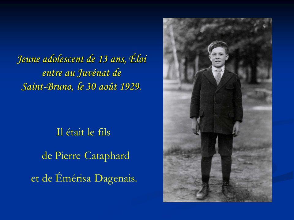 Le Maire de Montréal, M.Pierre Bourque remercie personnellement le frère Éloi pour son bénévolat.