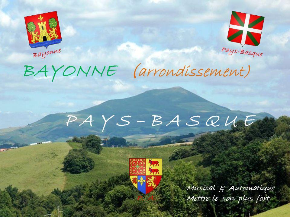 BAYONNE ( arrondissement) P A Y S – B A S Q U E Musical & Automatique Mettre le son plus fort Bayonne Pays-Basque P.