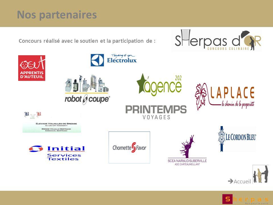 Nos partenaires Concours réalisé avec le soutien et la participation de : Accueil