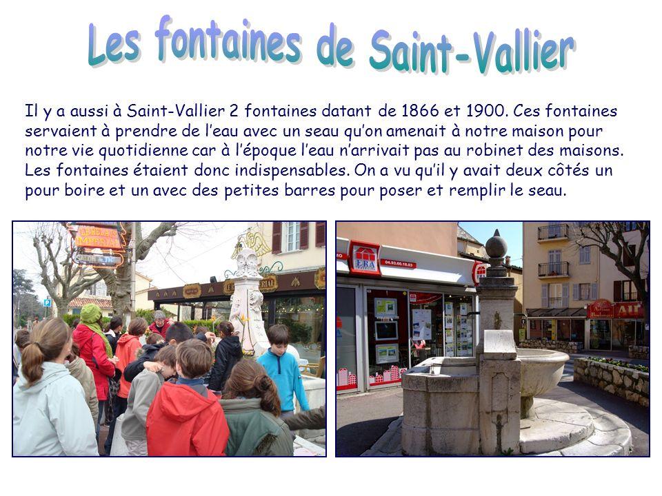 A Saint-Vallier ma classe est partie voir le village.