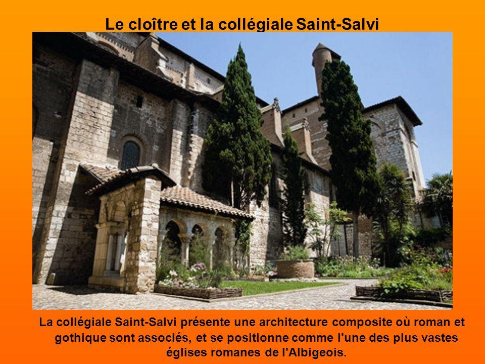 Le cloître Saint-Salvi Les chapiteaux sculptés, les arcades et les colonnades du cloître de la collégiale Saint-Salvi, témoignent de l'art du roman et