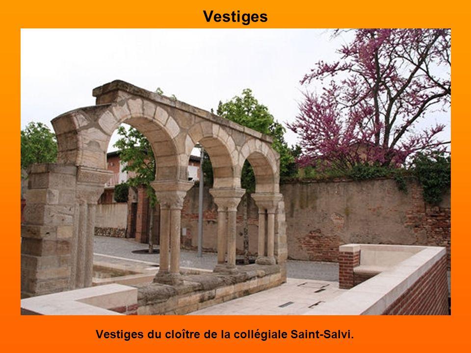 Le cloître et la collégiale Saint-Salvi La collégiale Saint-Salvi présente une architecture composite où roman et gothique sont associés, et se positi