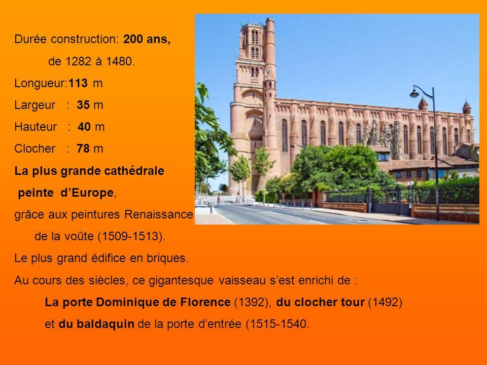 La Cathédrale Sainte-Cécile Plus grande cathédrale de briques au monde, la cathédrale Sainte-Cécile d'Albi témoignage de la foi chrétienne après l'hér