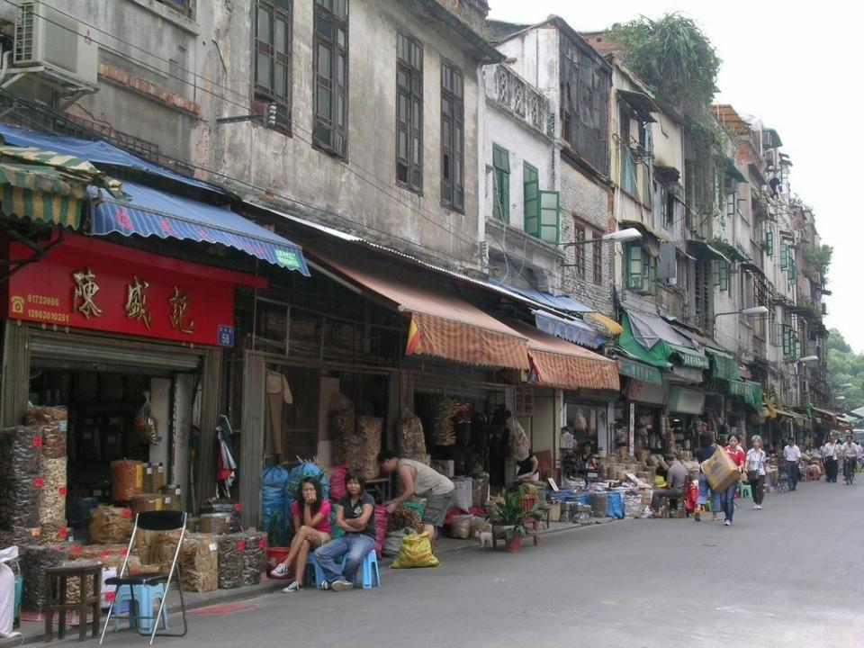 Le marché de Canton, bois de cerf …