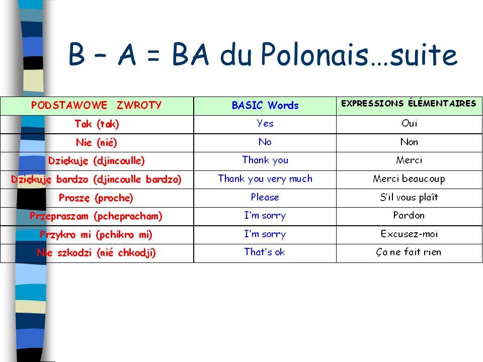B – A = BA du Polonais…