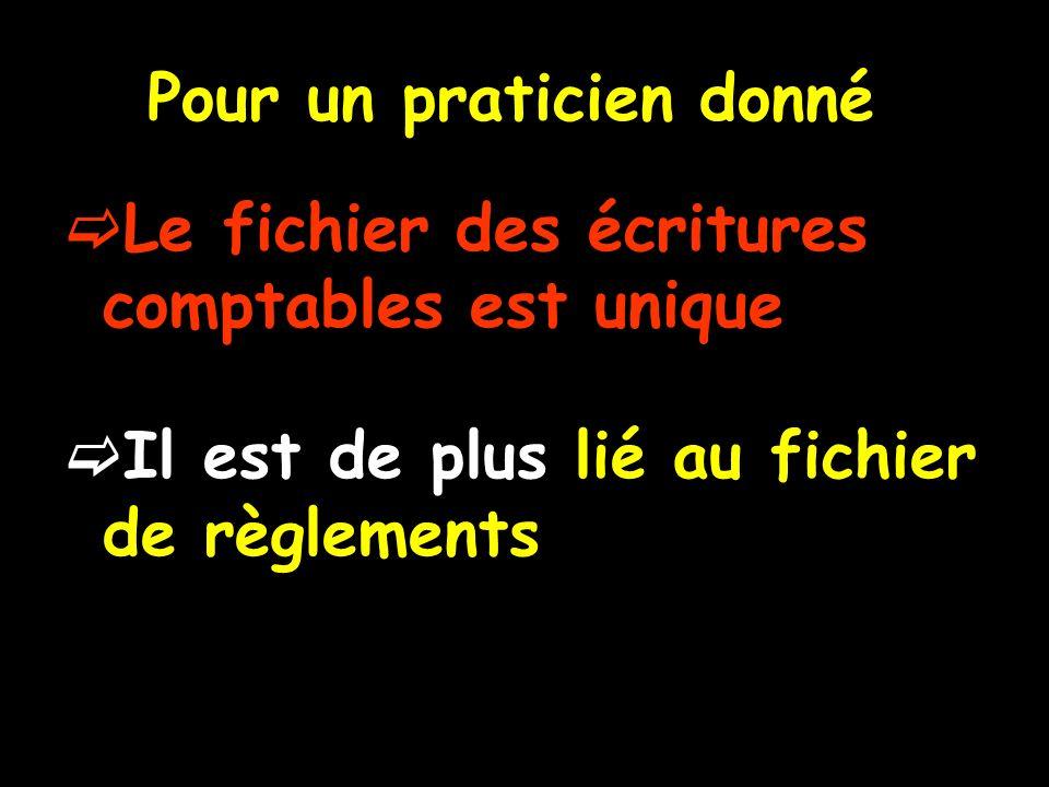 Toute la comptabilité pour un praticien est dans le répertoire Wlogos2\Prat\FISC