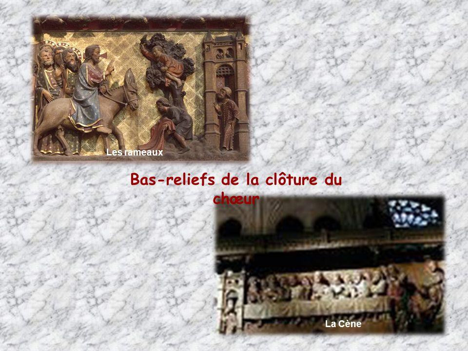 Les rois magesJésus au Temple Bas-reliefs de la clôture du chœur Le baptême Les noces de Cana