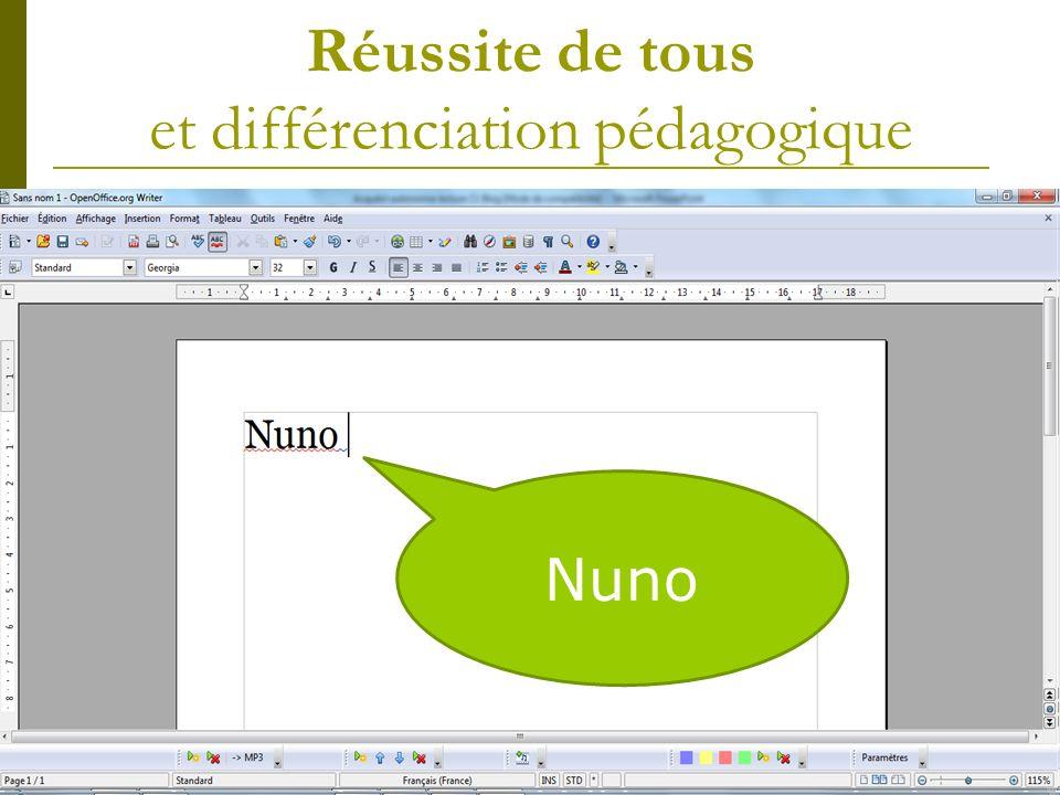 Réussite de tous et différenciation pédagogique Natural Reader : logiciel de synthèse vocale à ouvrir en parallèle dune page de traitement de texte.