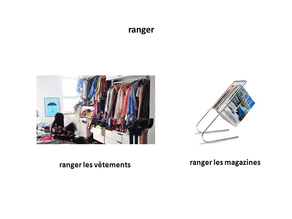 ranger ranger les vêtements ranger les magazines