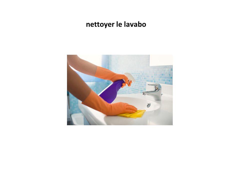 nettoyer le lavabo