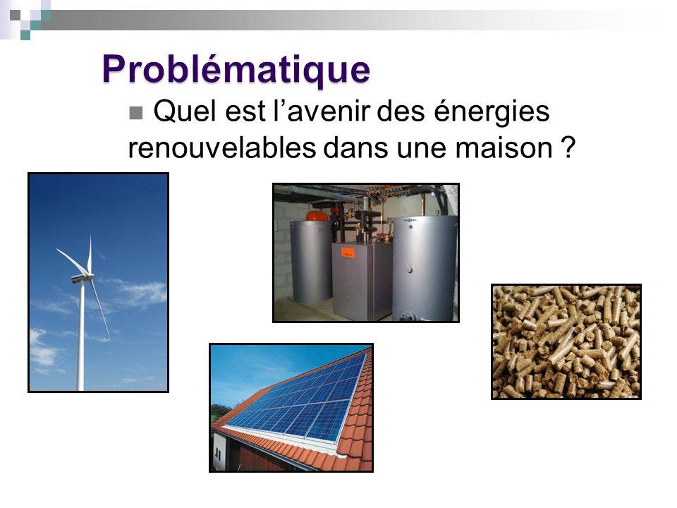 Conclusion Les énergies renouvelables sont un moyen de limiter notre consommation dénergie, elles restent cependant très coûteuse et nécessite beaucoup dentretient et despace.
