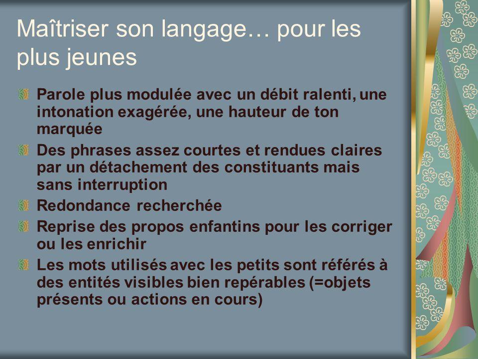 « …connaître les modalités dacquisition du langage… » Quentend-on par langage .