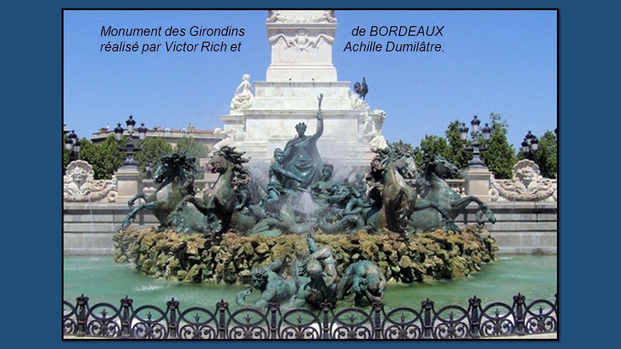 Monument des Girondins de BORDEAUX réalisé par Victor Rich et Achille Dumilâtre.