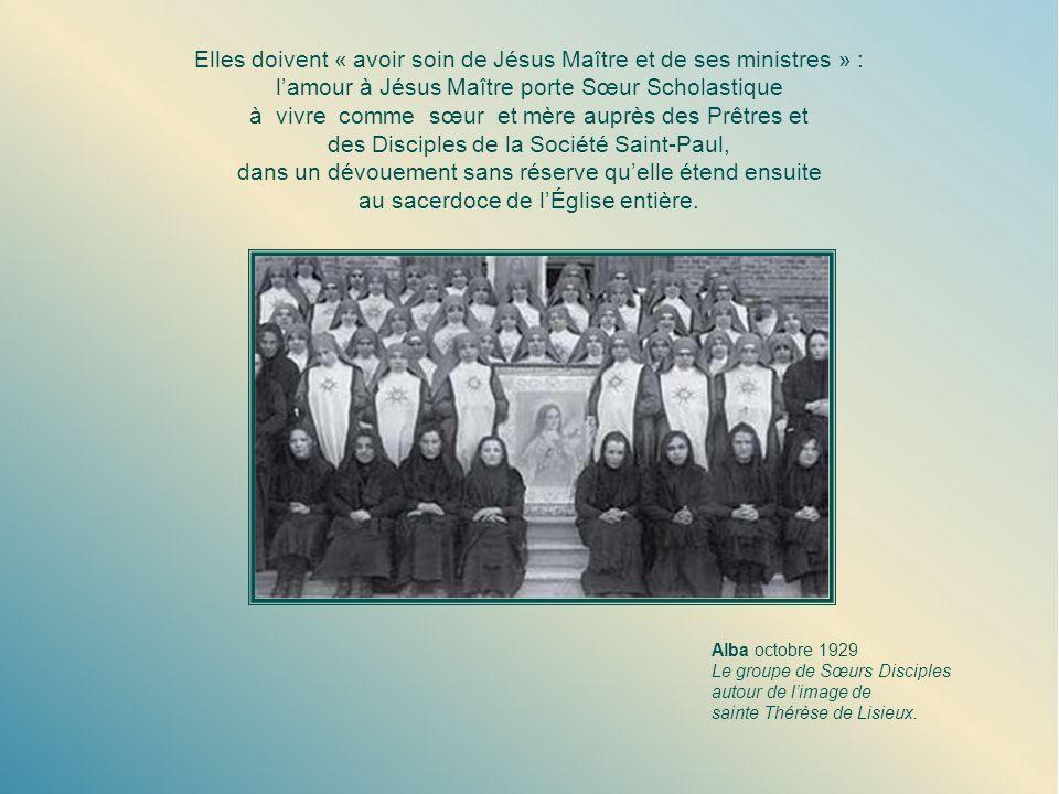 Un nom nouveau, une mission nouvelle Don Alberione choisit le 10 février 1924, jour de la fête de sainte Scholastique, pour acheminer la nouvelle fond
