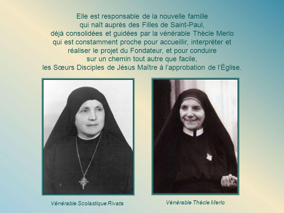 La première Mère Les Sœurs Disciples se développent et, guidées par Mère Scholastique, elles parviennent à vaincre plusieurs difficultés, à garder viv
