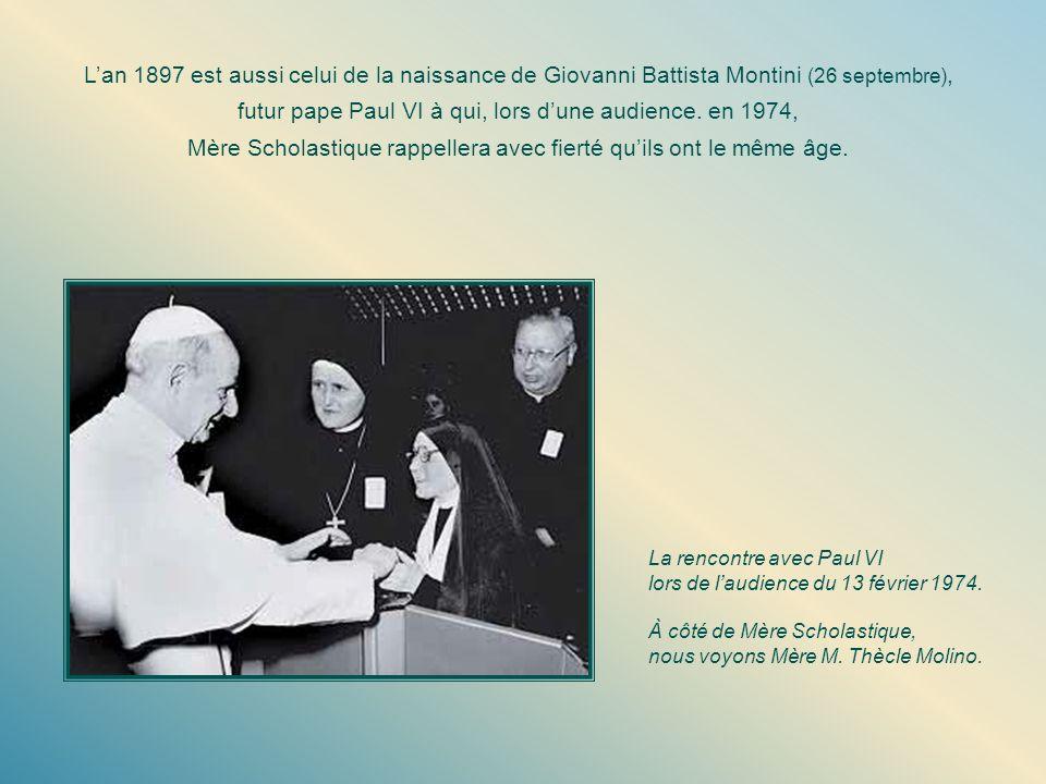 Lan 1897 est aussi celui de la naissance de Giovanni Battista Montini (26 septembre), futur pape Paul VI à qui, lors dune audience.