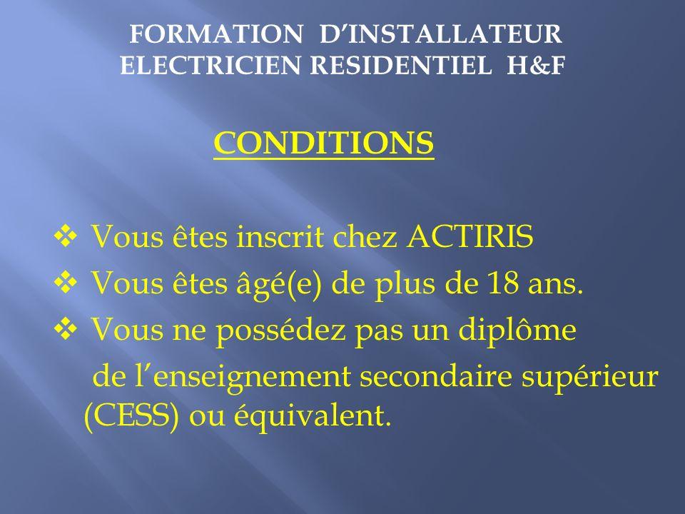 CONTRAT DE FORMATION Reconnu par Bruxelles-Formation Les stagiaires inscrits en formation bénéficieront dune prime de formation (1 brut par heure de c