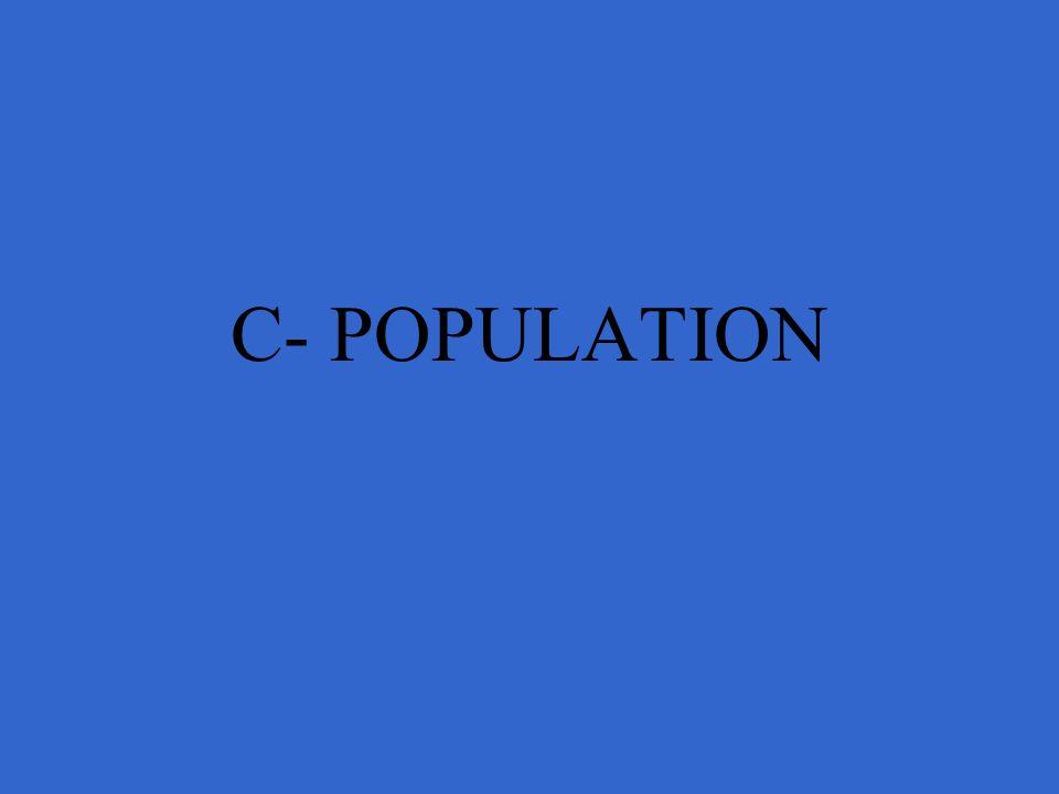 C- POPULATION