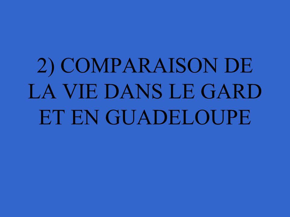 2) COMPARAISON DE LA VIE DANS LE GARD ET EN GUADELOUPE