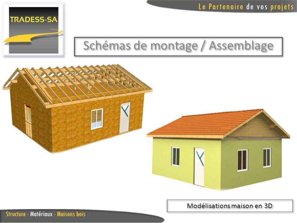 Schémas de montage / Assemblage Modélisations maison en 3D