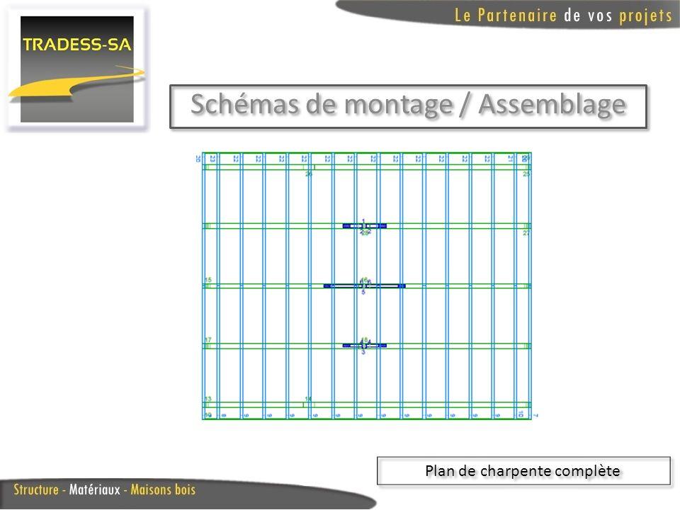 Schémas de montage / Assemblage Plan de charpente complète