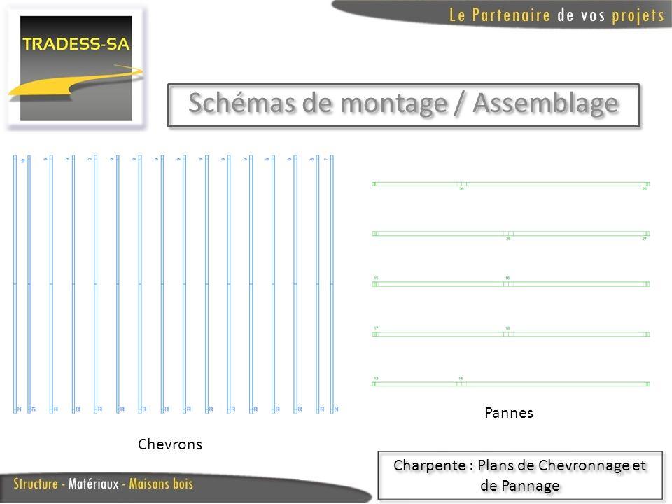 Schémas de montage / Assemblage Charpente : Détail des Poteaux