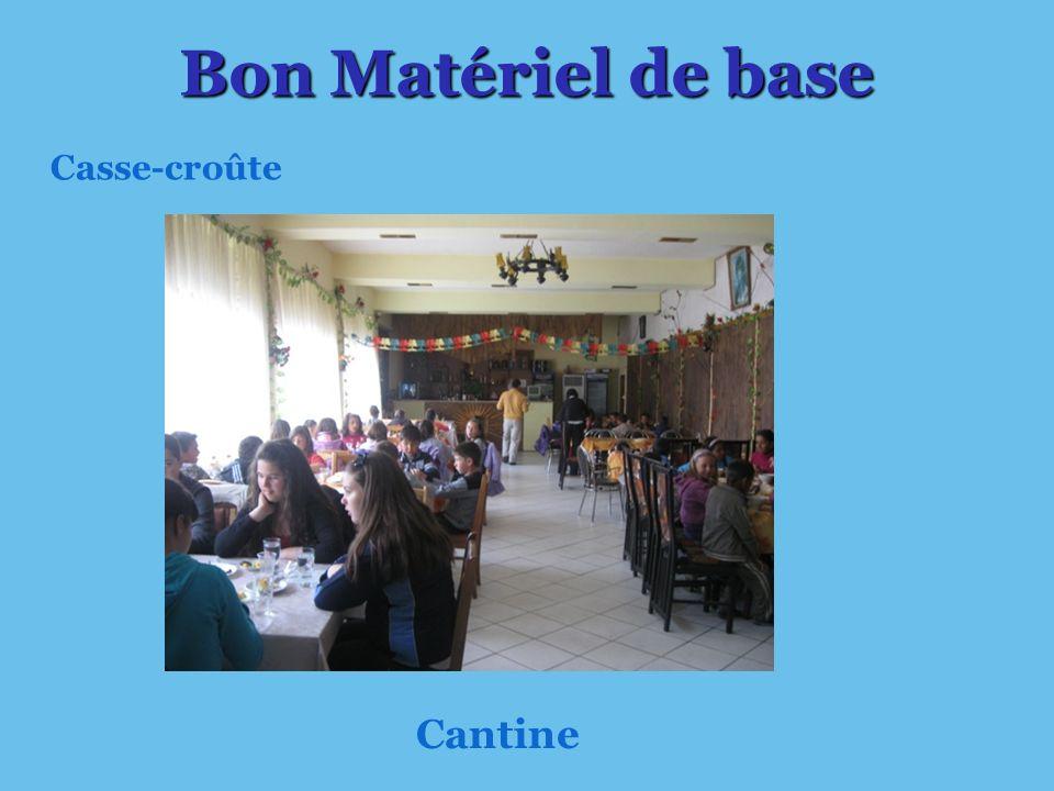 Cantine Bon Matériel de base Casse-croûte