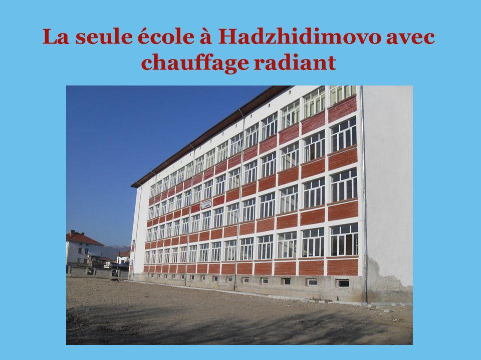 La seule école à Hadzhidimovo avec chauffage radiant