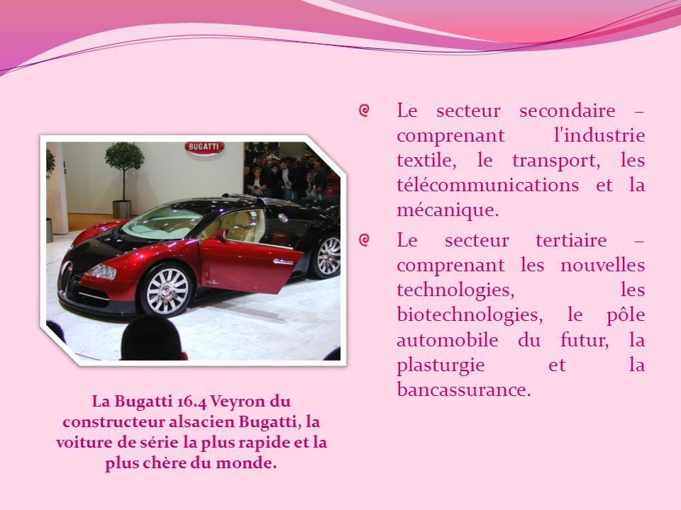 LÉconomie de lAlsace LAlsace est la région française la plus ouverte aux investissements internationaux. L'Alsace est une région dont l'activité écono