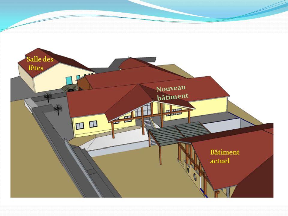 Salle des fêtes Bâtiment actuel Nouveau bâtiment