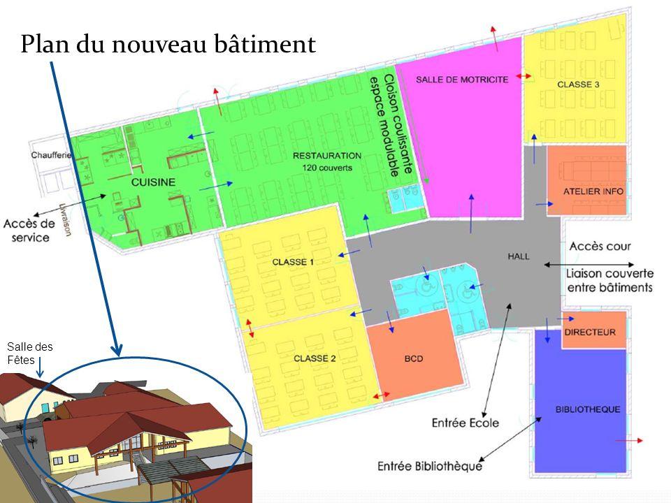 Plan du nouveau bâtiment Salle des Fêtes