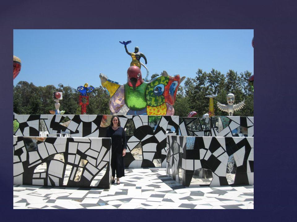 Le Jardin des Tarots (près de Florence – Italie) Niki de Saint-Phalle (1930 France – 2002 États-Unis)