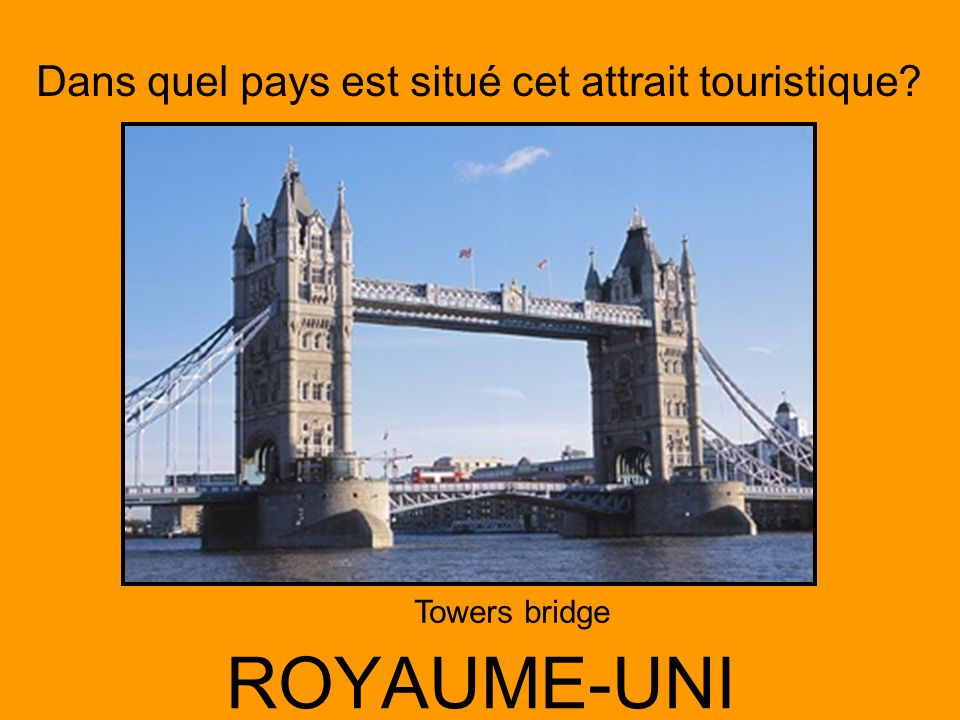 Dans quel pays est situé cet attrait touristique? ALLEMAGNE Cathédrale de Cologne