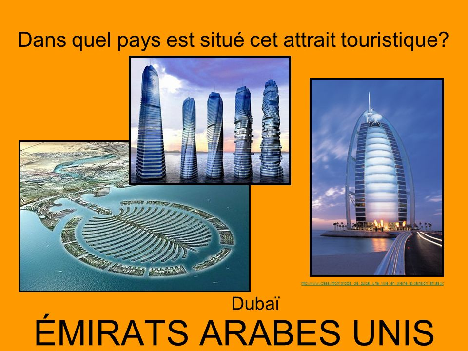 Dans quel pays est situé cet attrait touristique? ROYAUME-UNI Big Ben