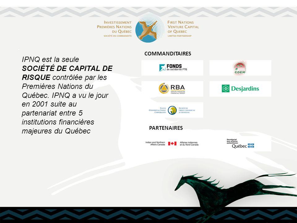 . IPNQ est la seule SOCIÉTÉ DE CAPITAL DE RISQUE contrôlée par les Premières Nations du Québec. IPNQ a vu le jour en 2001 suite au partenariat entre 5
