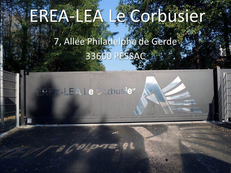 EREA-LEA Le Corbusier 7, Allée Philadelphe de Gerde 33600 PESSAC