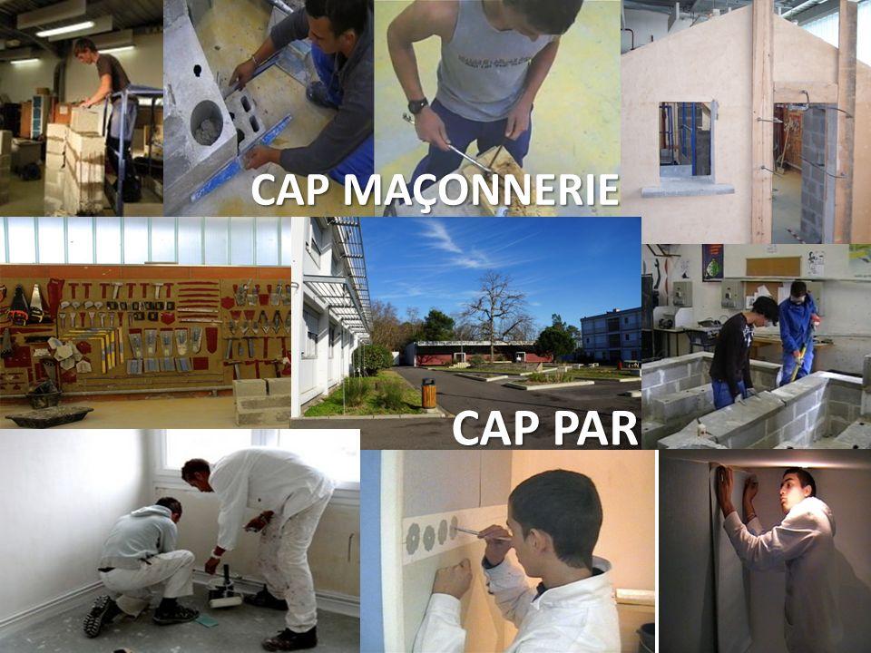 CAP MAÇONNERIE CAP PAR