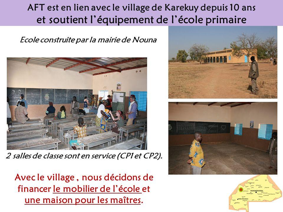 AFT est en lien avec le village de Karekuy depuis 10 ans et soutient léquipement de lécole primaire 2 salles de classe sont en service (CP1 et CP2). A