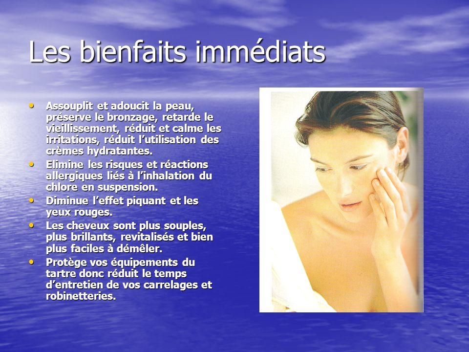 Les bienfaits immédiats Assouplit et adoucit la peau, préserve le bronzage, retarde le vieillissement, réduit et calme les irritations, réduit lutilis